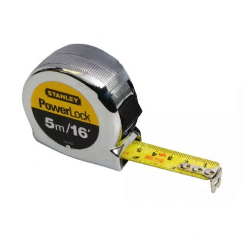 Stanley 033553 PowerLock Classic Pocket Tape Measure 5m/16ft (Width 19mm)